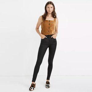 "madewell ∙ 10"" high rise coated skinny jeans"